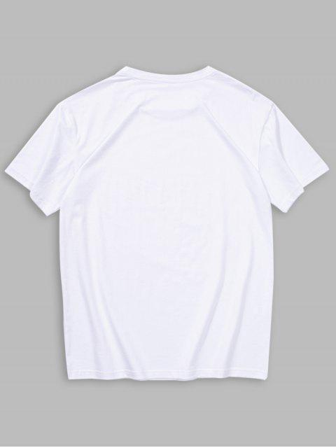 Short Sleeves Sun Dawn Print T-shirt - أبيض 2XL Mobile