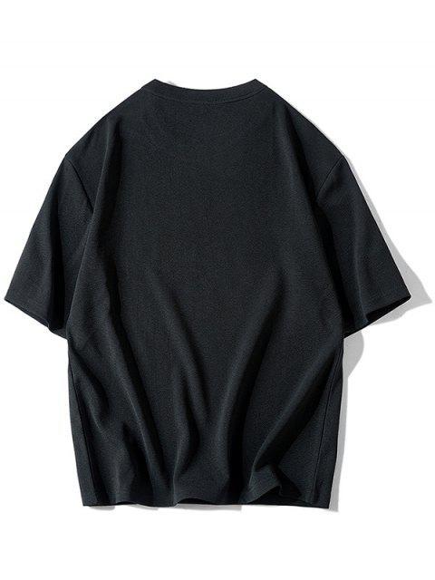 Camisa Básico com Impressão Gráfica dos Desenhos Animados de - Preto XL Mobile