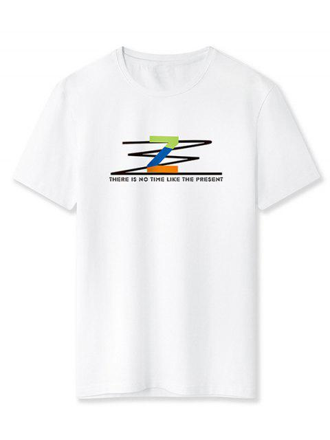 T-Shirt con Grafica di Z - Bianca M Mobile