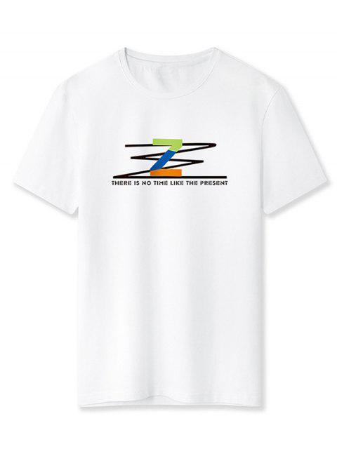 T-Shirt con Grafica di Z - Bianca XL Mobile