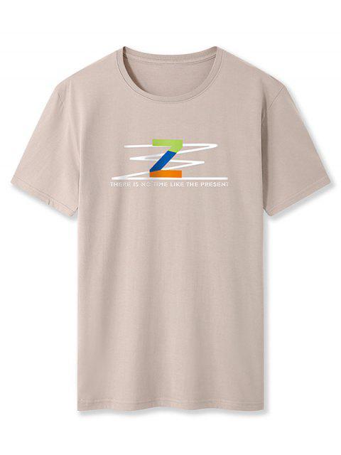 T-Shirt con Grafica di Z - Cachi XS Mobile