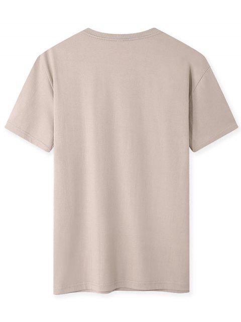 T-shirt - Cor de Caqui S Mobile