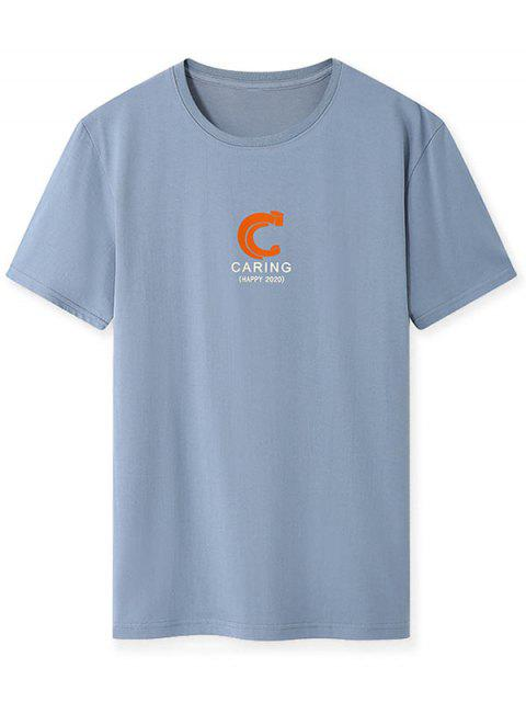 T-shirt - Cinza Azulado S Mobile
