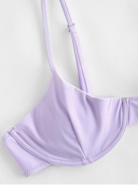 latest ZAFUL Underwire Bikini Top - LAVENDER BLUE S Mobile