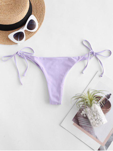 outfits ZAFUL Cheeky Tie Side Bikini Bottom - LAVENDER BLUE S Mobile