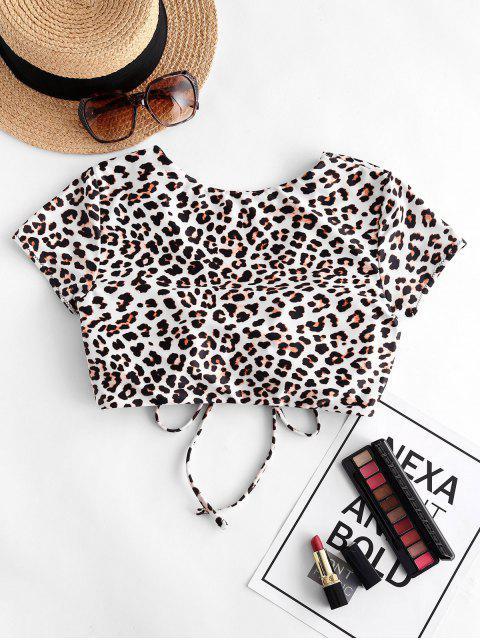 ZAFUL Leopard Cinched Swim Top - فهد S Mobile