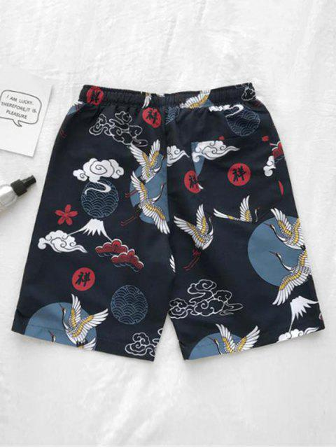 outfits Chinese Animal Print Board Shorts - CADETBLUE M Mobile
