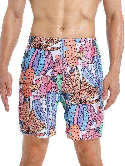 Cactus Graphic Print Swim Shorts