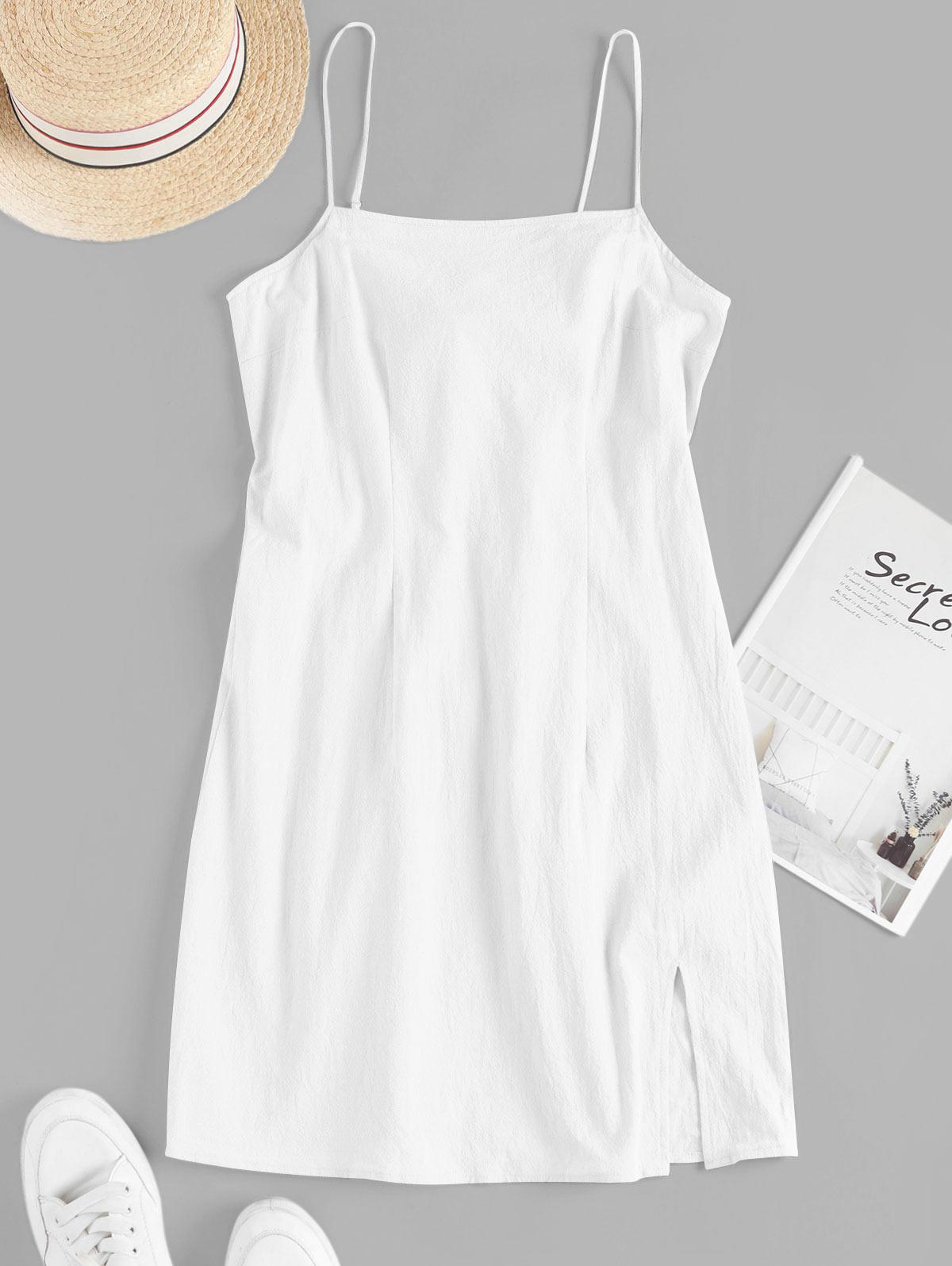 ZAFUL Cami Slit Tie Back Mini Dress