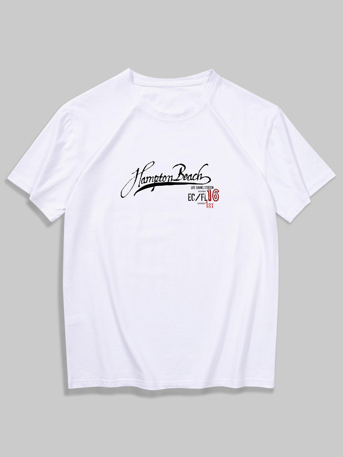 Short Sleeves Simple Letter Print Tee thumbnail