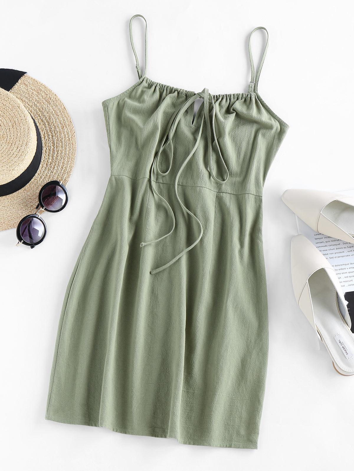 ZAFUL Tied Mini Cami Dress