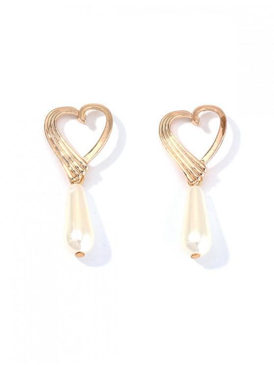 Pendientes de Perlas de Imitación de Gota de Agua - Oro