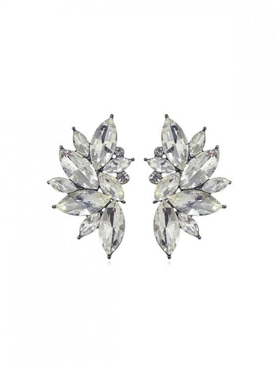 Pendientes de diamantes de imitación Decoración - Plata