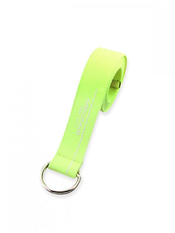 Cinturon de Lona con Hebilla de Letras - Té Verde