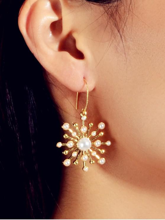 Pendientes de aleación de perlas de imitación - Oro