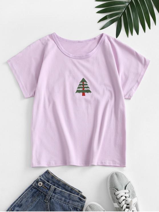 Tee Básico Árvore de Natal - Wisteria Roxa M
