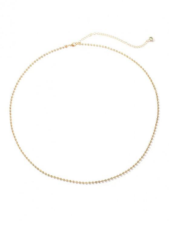 Cadena Completa Imitación Diamantes - Oro