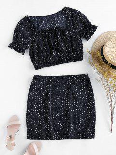 ZAFUL Dalmatian Print Co Ord Set - Black S