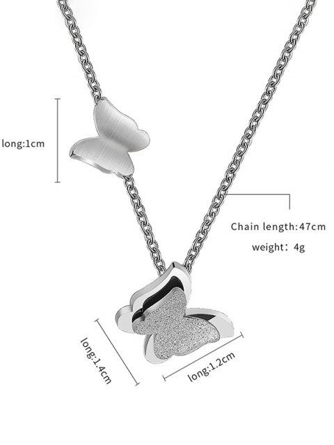 Collar de mariposa Forma - Plata  Mobile