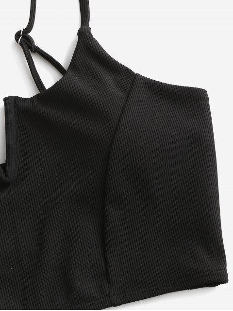 ZAFUL Costume da Bagno Tankini Reversibile con Scollo a V - Nero M Mobile