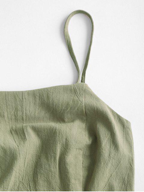 ZAFUL Set de Sudadera con Corte Trasero y Cinturón - Verde Camuflaje S Mobile