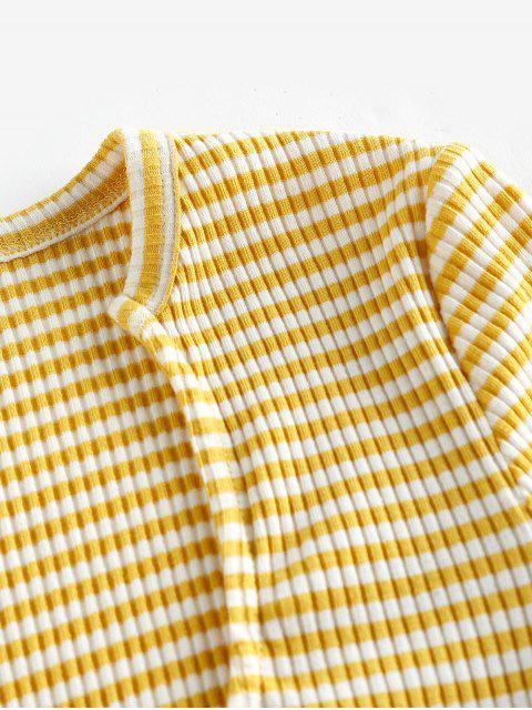 ZAFUL T-shirt Listrado com Nervuras Cortado - Multi-A XL Mobile