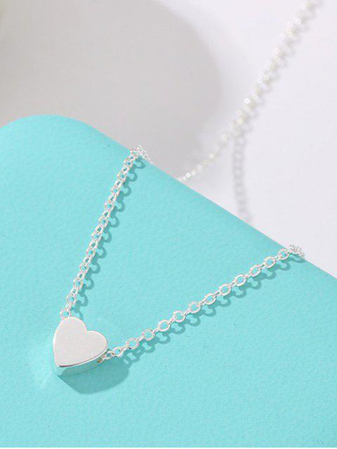 online Heart Collarbone Chain Necklace - SILVER  Mobile