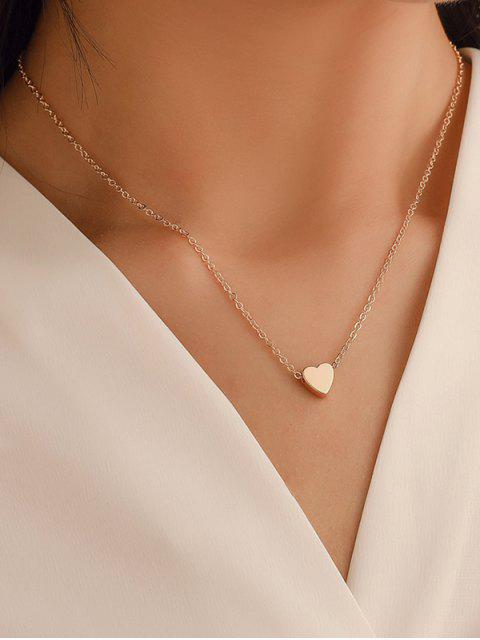 best Heart Collarbone Chain Necklace - GOLD  Mobile