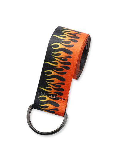 Chic Flame Pattern Waist Tape Belt - Multi-a