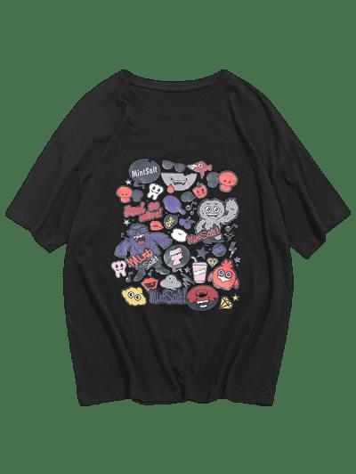 Cute Cartoon Graphic Short Sleeve Casual T Shirt