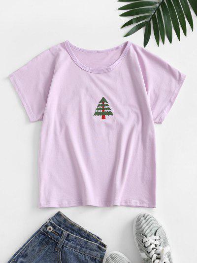 Camiseta Gráfica De Árbol De Navidad - Púrpura De Wisteria S