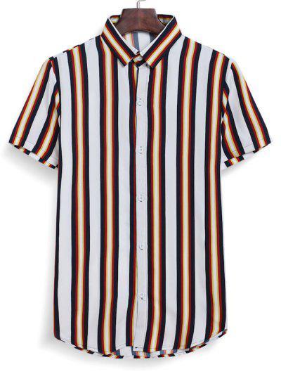 Stripes Hemd - Weiß 2xl