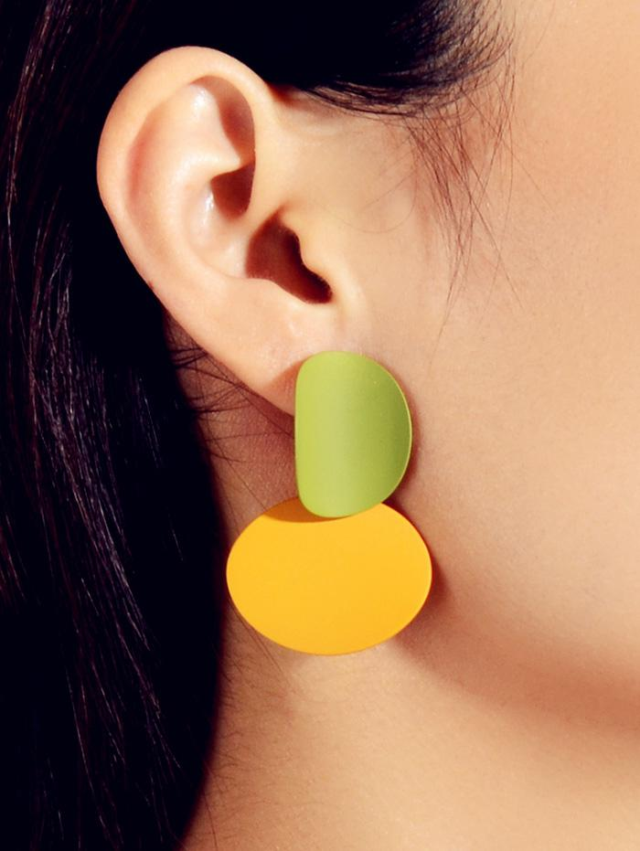Color-blocking Geometric Earrings thumbnail