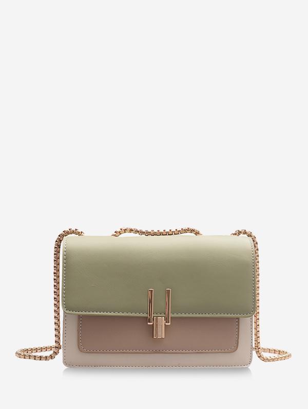 Color Blocking Square Crossbody Bag