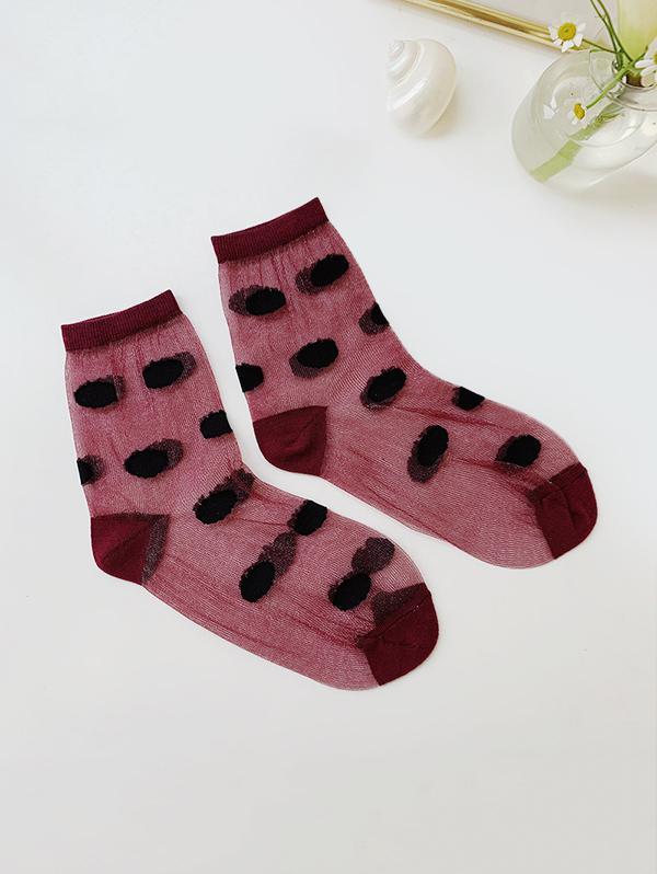 Dot Pattern Transparent Ankle Socks thumbnail