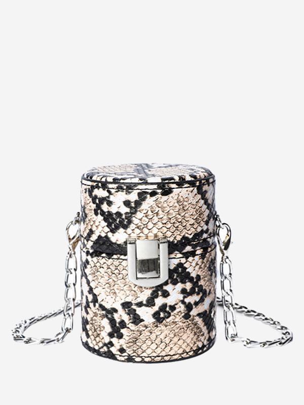 Chic Snakeskin Print Crossbody Bag