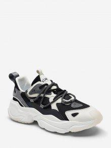 ColorBlock Breathable Ugly Sneakers