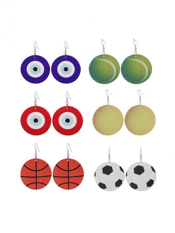 Conjunto de Pendientes con Diseño de Bola de Pájaros - Multicolor-A