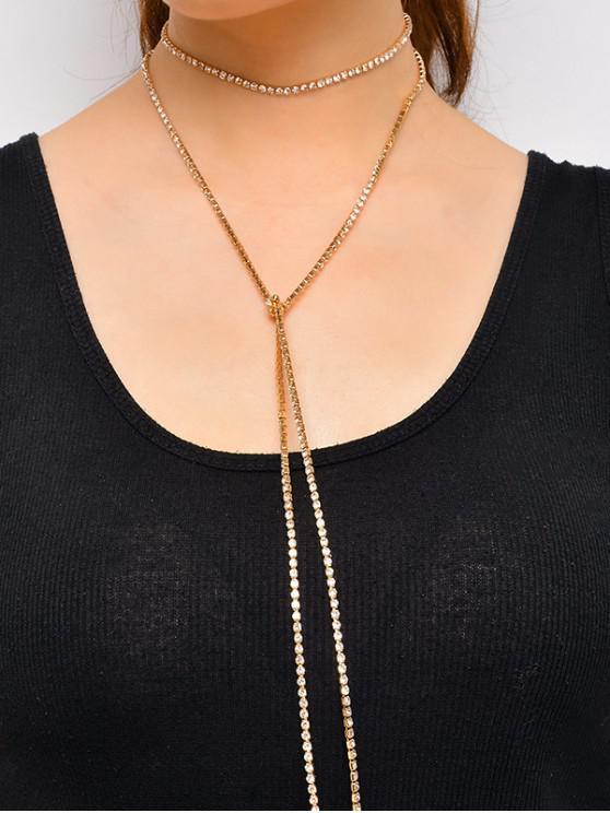 Collar en Capas Cadena Brillantes - Oro
