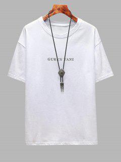 T-Shirtde BaseGraphique Loup Lettre - Blanc 2xl