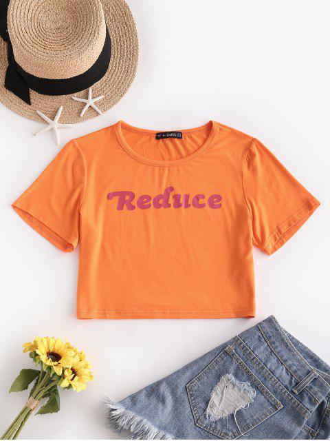 ZAFUL T-shirt Court Néon Graphique - Orange Foncé S Mobile
