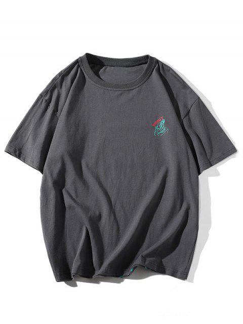 Camiseta Básica - Cinzento 4XL Mobile