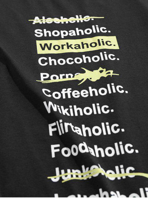 T-Shirt con Grafica di ZAFUL - Nero L Mobile