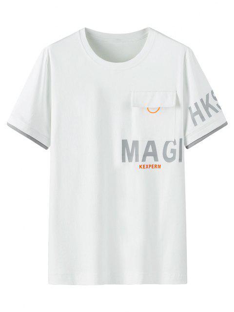Padrão Gráfico Bolso T-shirt - Branco XL Mobile