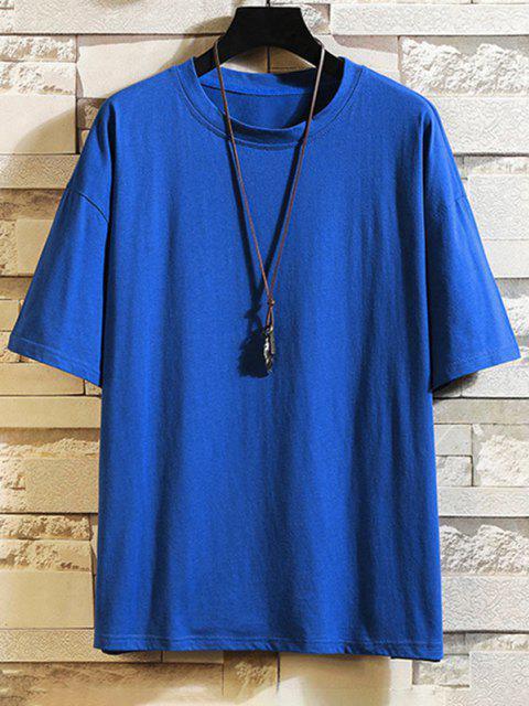 Camiseta Básica Manga Curta com Estampa Gráfica - Azul de Mirtilo  XL Mobile