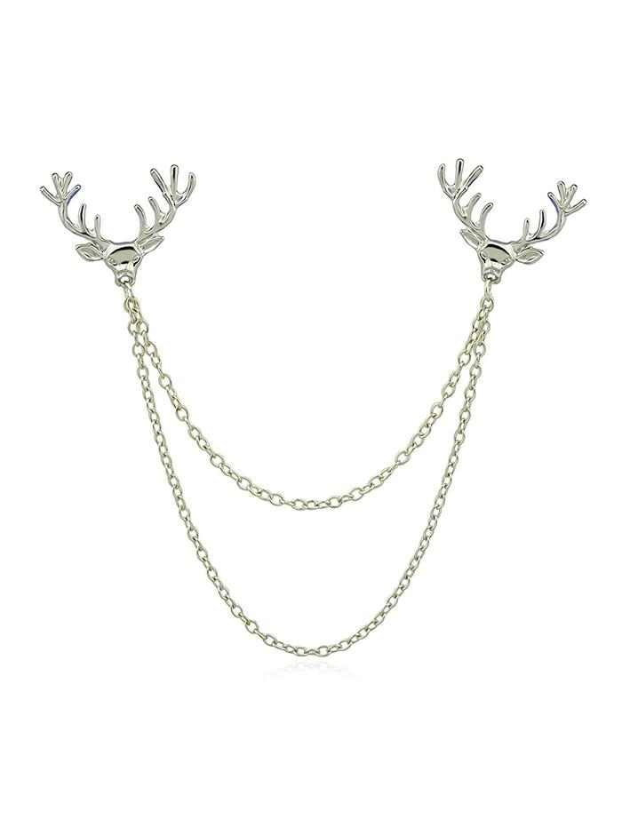 Elk Head Chain Collar Brooch thumbnail