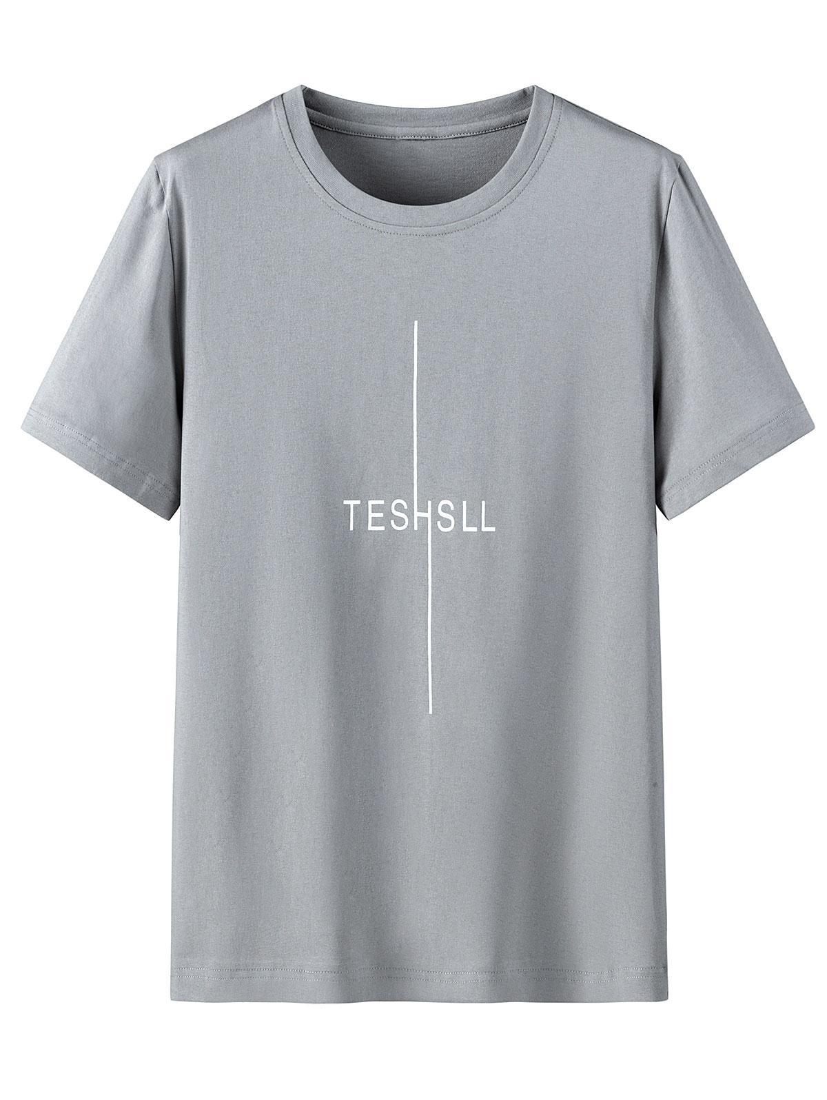T-shirt Lettre Graphique Imprimé à Col Rond - ZAFUL - Modalova