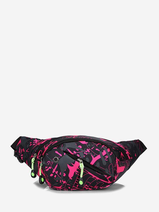 Colorful Print Casual Nylon Waist Bag
