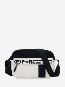 Letter Print Casual Crossbody Bag