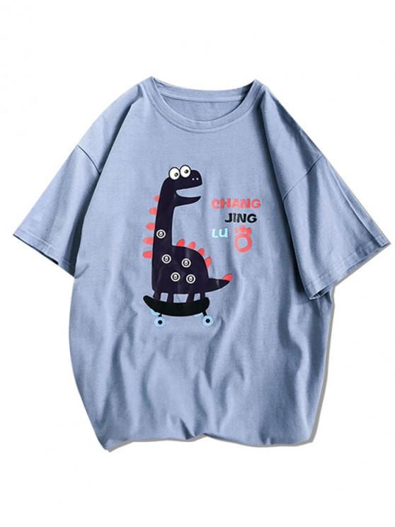 Desen animat Animal de bază T-shirt - Albastru 3XL